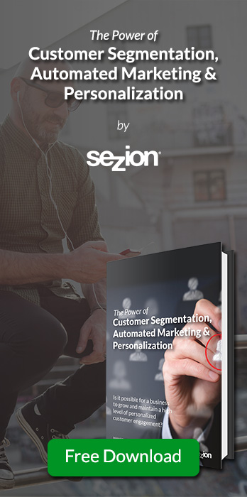Download this free ebook about customer segmentation, automated marketing and personalization