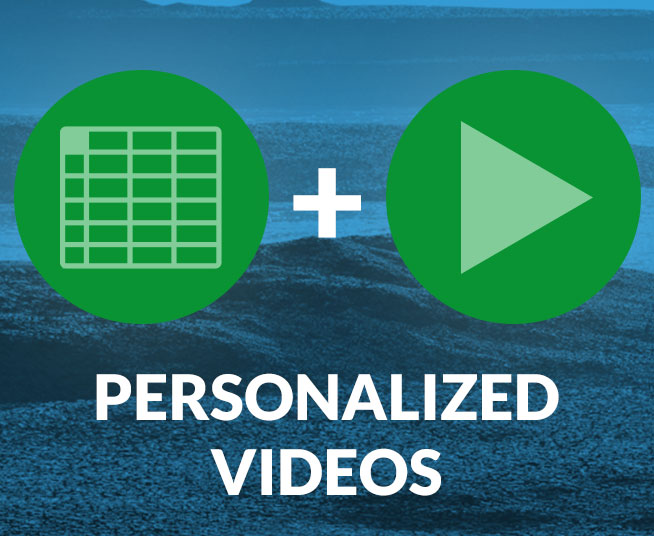 Make personalized videos from a spreadsheet