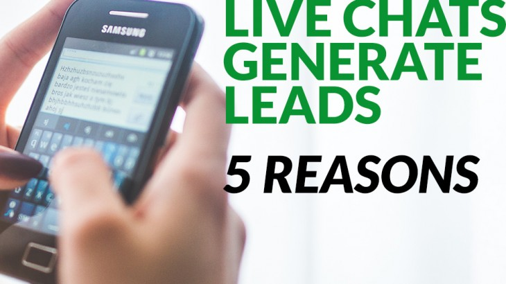 Learn why a live chat helps generate more leads